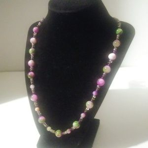 Jewelry - Handmade one of a kind glass bead necklace